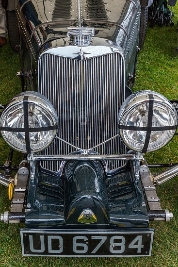 GOODWOOD WEST SUSSEX/UK - SEPTEMBER 14 : Squire 1500 Markham Roadster Headlamps and grille at Goodwood in Sussex on September 14 2012 photo