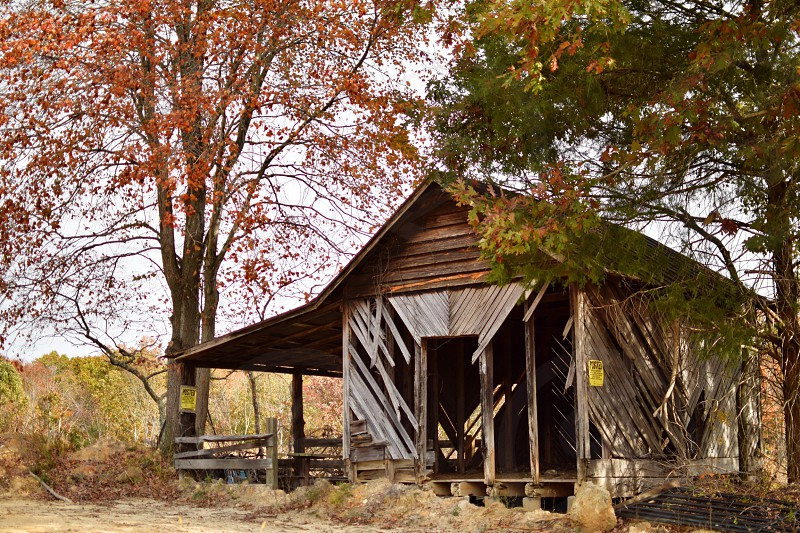 This was such an eery old barn- back roads in Virginia   photo