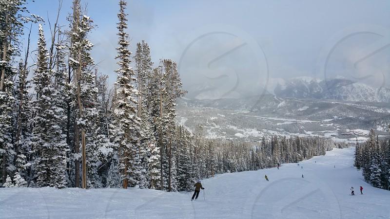 Ski slopes on Big Sky Montana ski resort photo