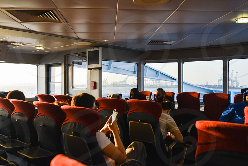 travel boat passengers public transportation transportation photo