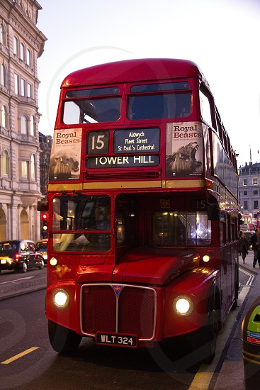 Old London Bus 15 reinstalled in service  for tourists. photo