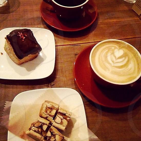 chocolate cake and coffee photo