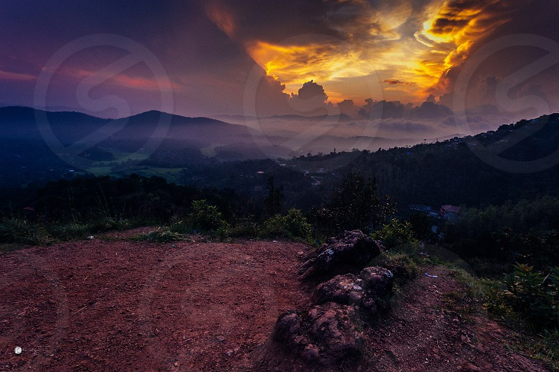 view from raja seat madikeri kodagu Karnataka photo