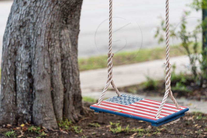 American Flag swing photo