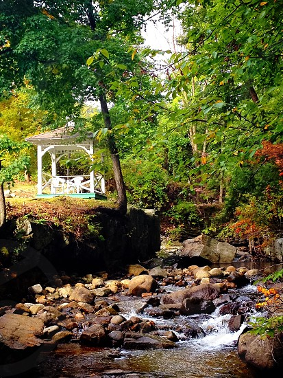 Secret gazebo perched in the woodlands of Lake George photo