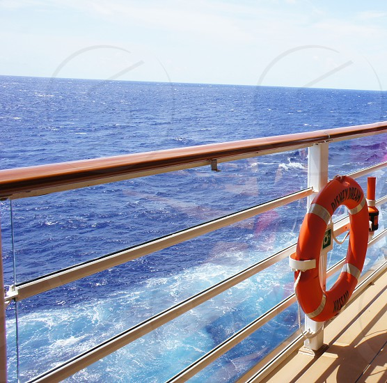 Cruise ship railing photo