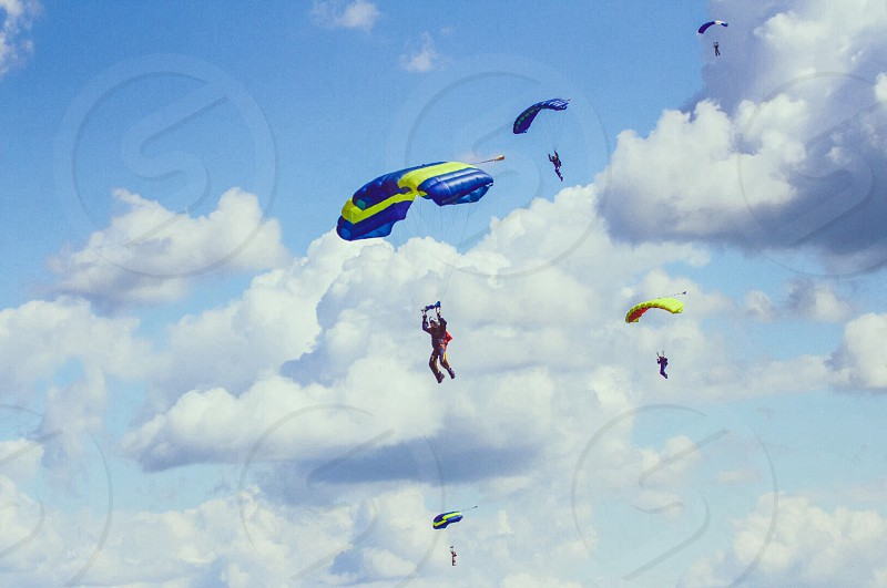 Sport skydiving parachute sunny day photo