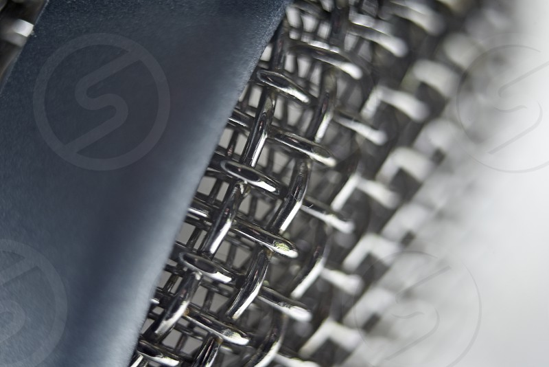 Close up of a condenser microphone photo