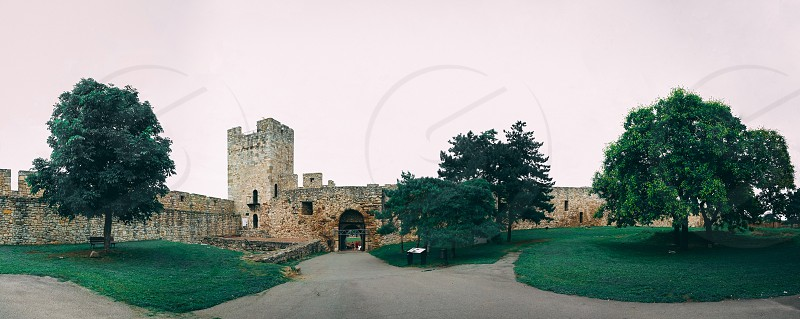 Belgrade Serbia - 07/17/2018.  Belgrade Fortress in a cloudy summer day photo