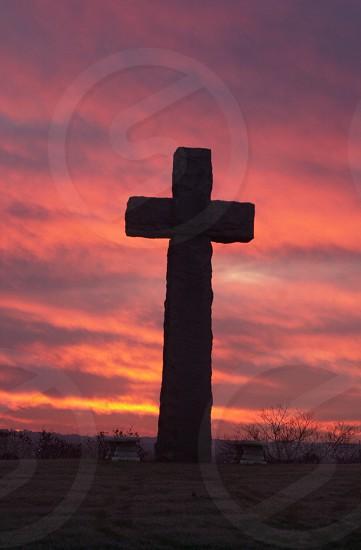 cross good friday sunrise.sunsetburgandy cavalrygodlove photo