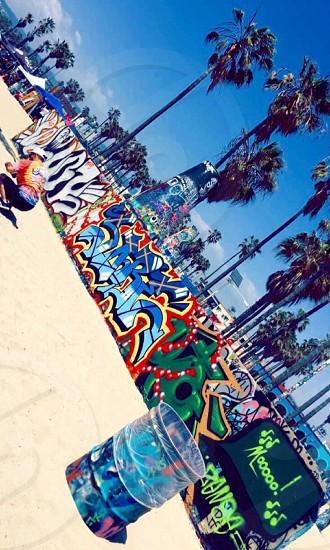 Venice beach California street art graffiti beach photo