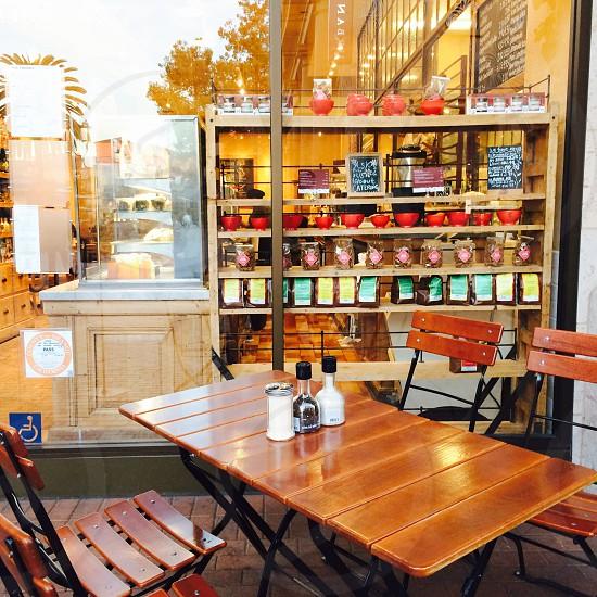 #cafealfrescostyle#bistro#woodputdoorpatioset photo