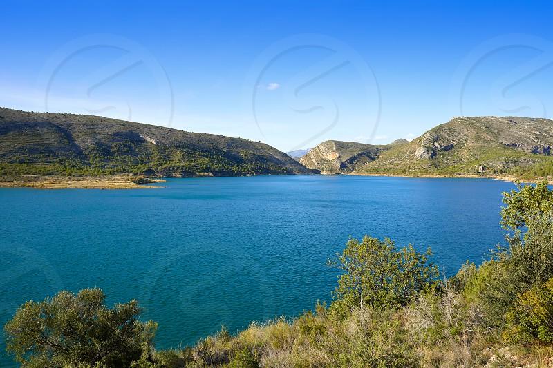 Loriguilla Pantano swamp reservoir in Serranos area of Valencia Spain photo