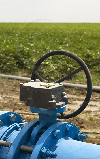 Irrigation systems pipes and faucets for watering. photo
