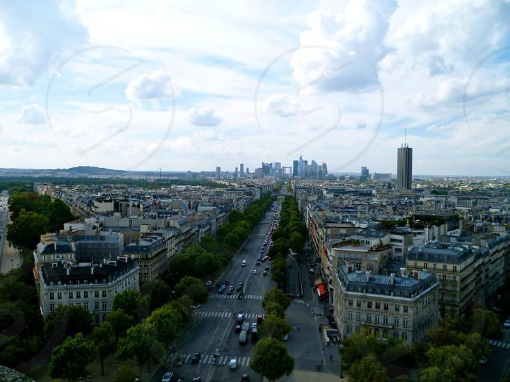 Paris from the Arc du Triomphe photo
