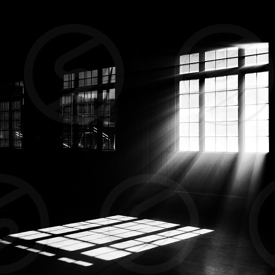 windows in room and shadows photo
