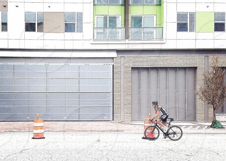 Biker street building city orlando bike rider  photo