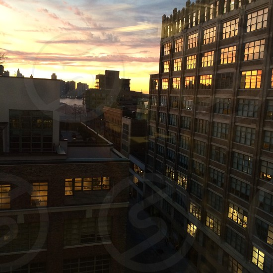 Sunset Manhattan nyc hudson TriBeCa colorful River New Jersey west side photo