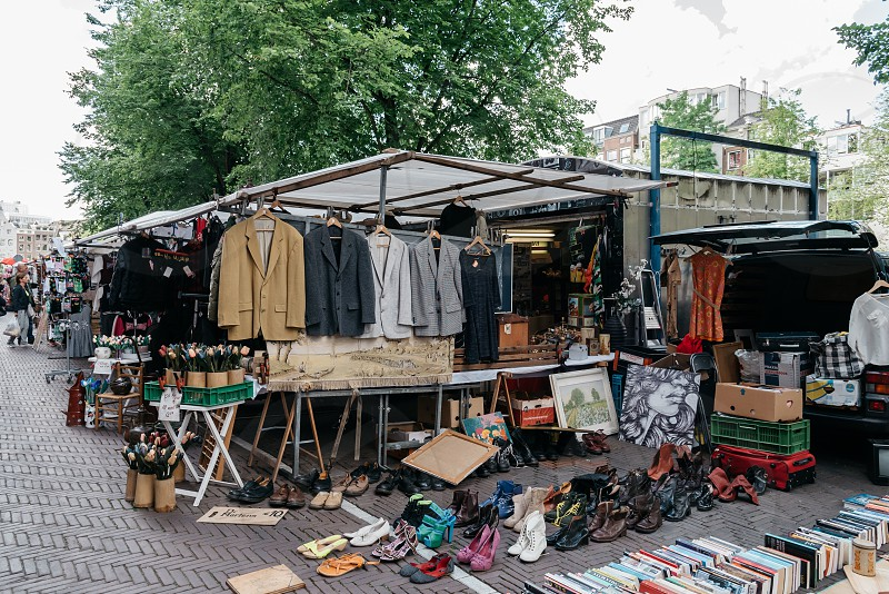 Waterlooplein Market in Amsterdam. Flea market photo