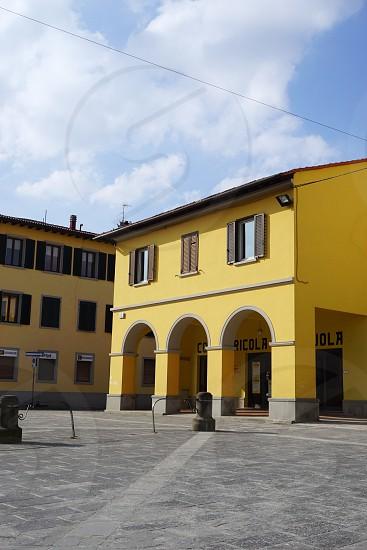 main square in Firenzuola Tuscany photo