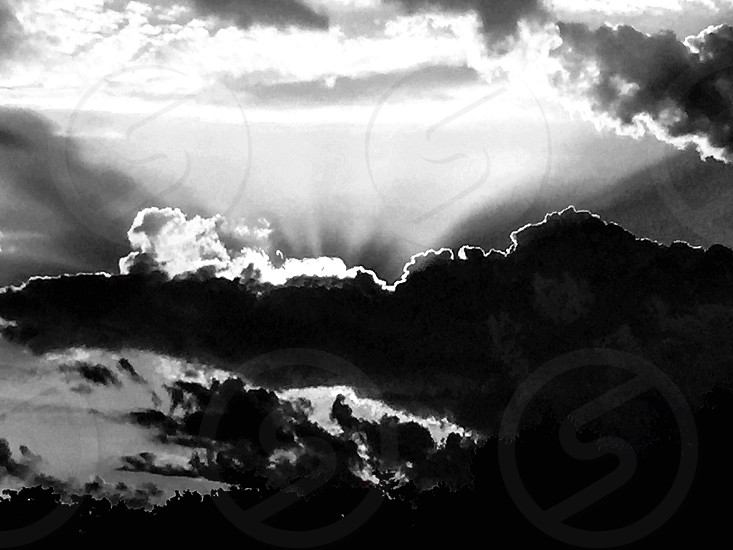 Silhouette clouds sun outdoors weather  photo