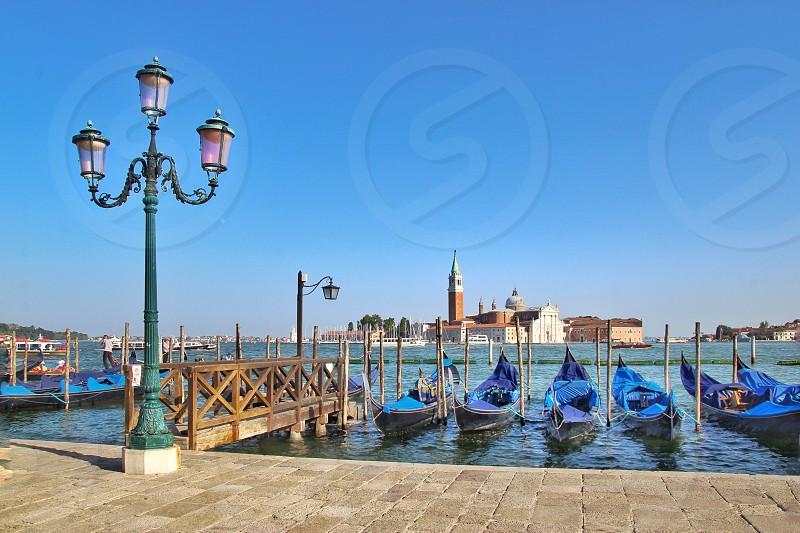 Boats gondola sea summer Venice  photo