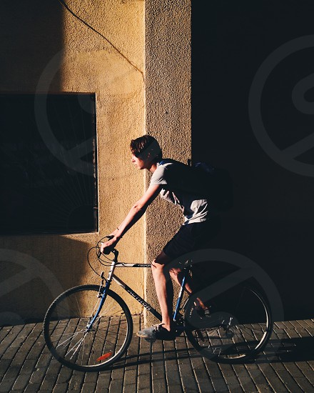 Man on a bicycle  photo
