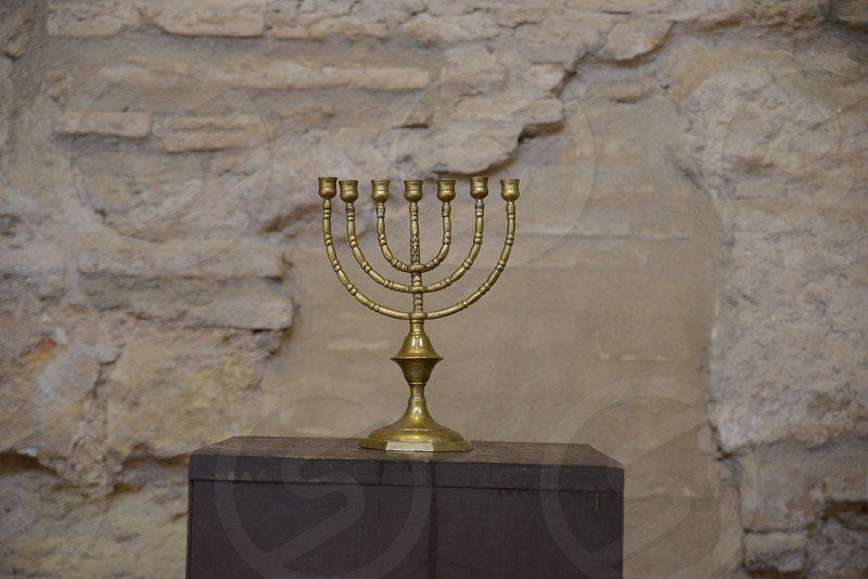 old menorah in the synagogue in Cordoba Spain photo
