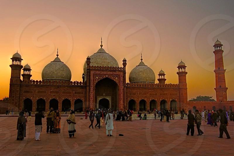 Badshahi mosque Lahore Pakistan. photo