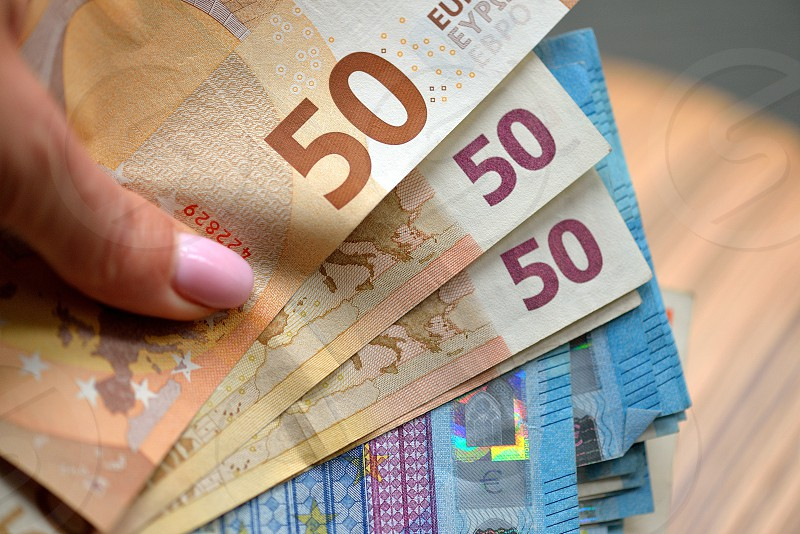Euro money background. symbol finance success and rich photo