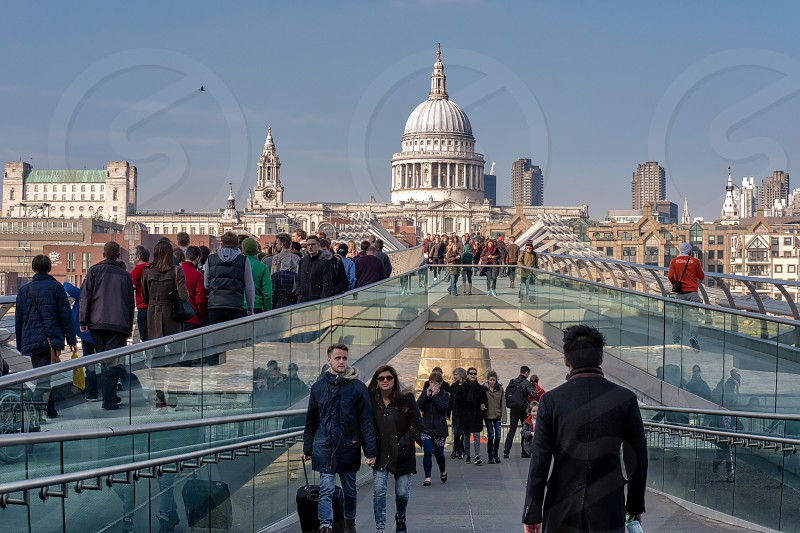Millennium Bridge and St Pauls Cathedral photo