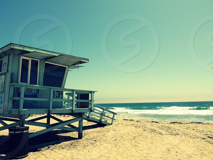 beach life guard ocean photo