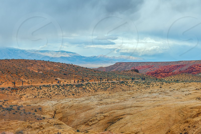The Fire Wave hiking trail in Valley of Fire State Park. Nevada. USA photo