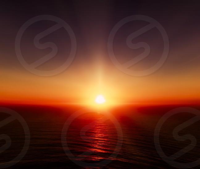 Sunsetseamood warm  photo