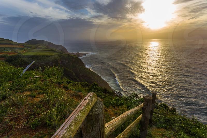Viewpoint Ponta of Escalvado in Island Azores Portugal photo