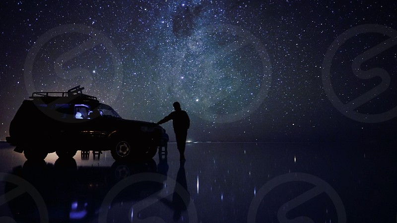 ボリビア、ウユニ塩湖、星空。 UYUNI photo