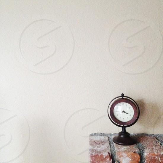 round wooden clock photo