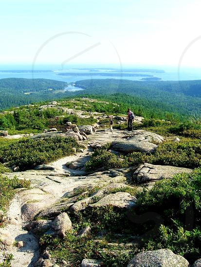 Endless hiking on mountain ridge photo