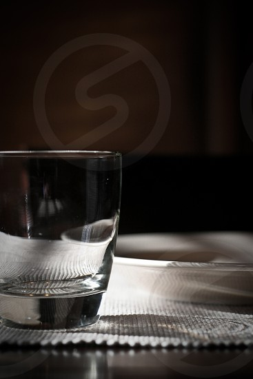 photo of clear drinking glass photo