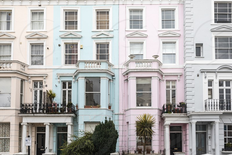 Notting Hill architecture color photo