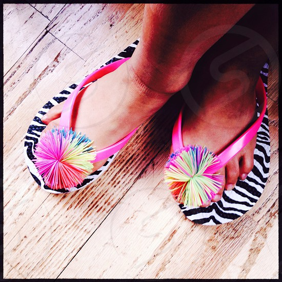 Colorful sandals photo