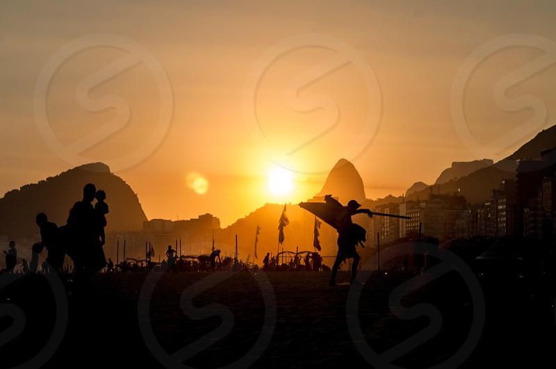 Rio de Janeiro beach vacation sunset  photo