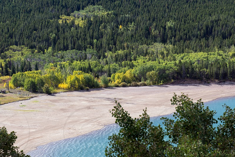 Shoreline of Lower Two Medicine Lake photo