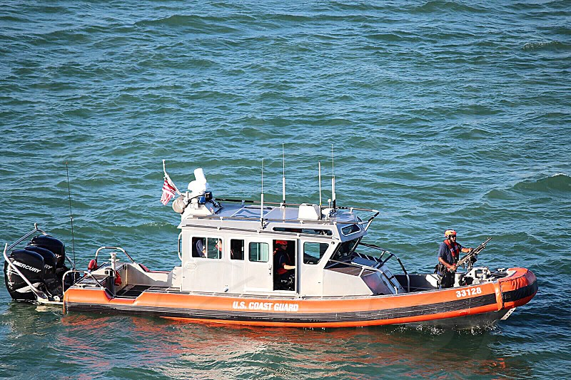 Coast guard power boat ocean photo