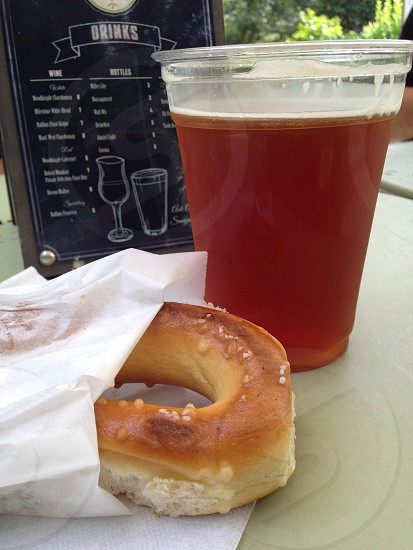 Snack beer pretzel beer garden Philadelphia  photo