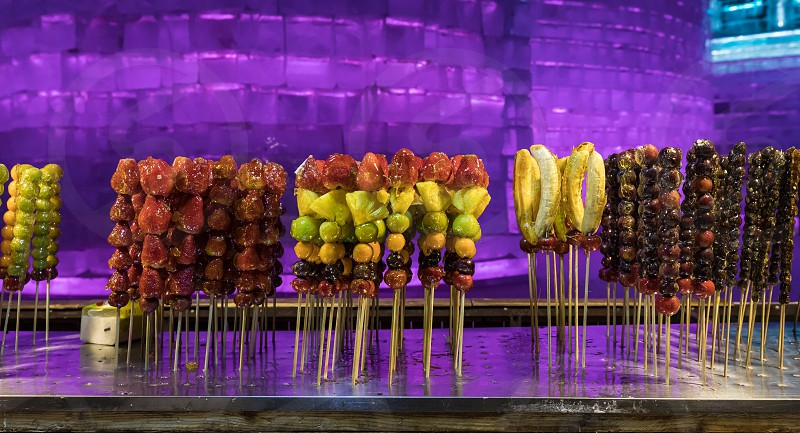 Sweet fruits at the Harbin ice festival  photo