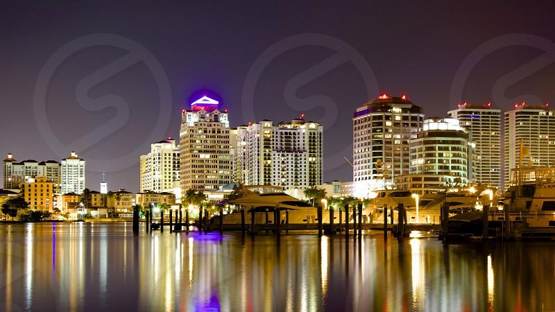 Night Shot of West Palm Beach Fl (2) photo