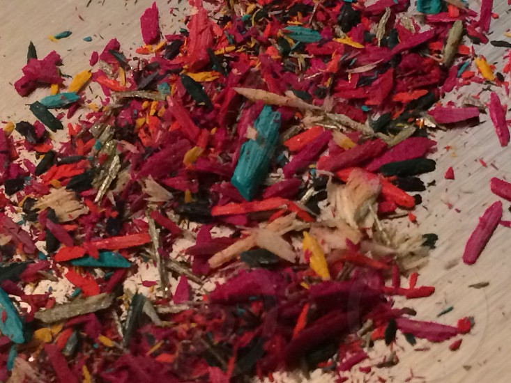 Shavings from pencils  photo