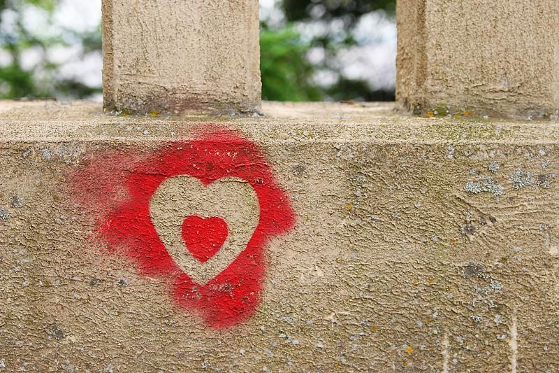 heart graffiti photo