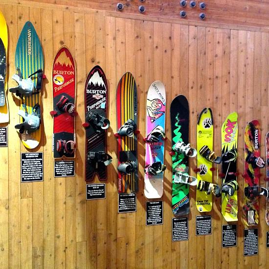 Snowboard wall @ Brighton Utah photo